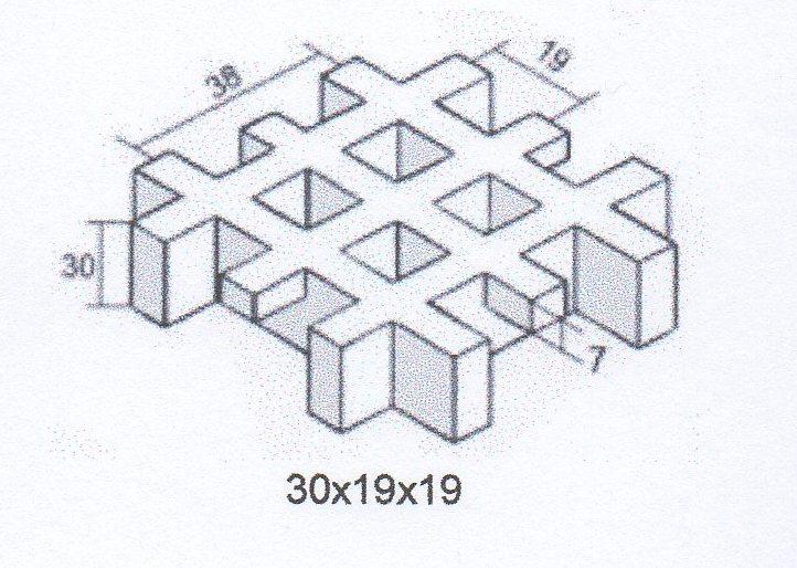 ячейка 30х19х19